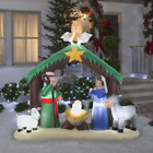 Nativity Scene Inflatable Airblown Christmas Holiday Decor Lighted Outdoor 7