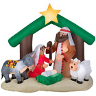 6 Ft Pre Lit Inflatable Holy Family Nativity Scene