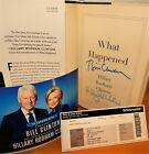 What Happened Book SIGNED by Both BILL AND HILLARY CLINTON NEW with COA