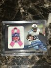 2013 TOPPS CHRIS JOHNSON NFL PATCH 05 99 RIBBON PINK BREAST CANCER RARE
