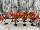 Lemax Fall Maple Tree Set of 8 Spooky Town Halloween Village Landscape Accessory