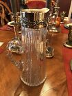 MUSEUM QUALITY ABP CUT GLASS PITCHER JUG with STERLING SILVER COLLAR