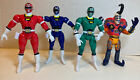Vintage Mighty Morphin Power Rangers Ninja TURBO Ranger Lot of 4 Bandai 1997