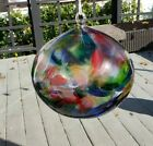 Kitras Art Glass Earth Witch Ball Fairy Orb Caring Tree Enchanted Gardens Large
