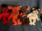 ELVIS PRESLEY TY BEANIE BABIES REESE'S COCO BEAR LOT OF 4 SHAKE RATTLE W/ CAPE