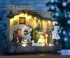 Traditional Christmas Nativity Scene Pre Lit LED Decoration Ornament Stable Xmas