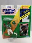 1992 ROOKIE STARTING LINEUP NFL ROB MOORE NEW YORK JETS with Poster