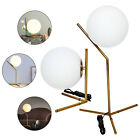 Mid Century Globe Glass Ball Table Lamp Gold Desk Light Reading Lighting 90 260V