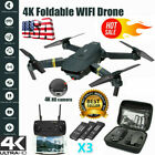 DRONE X Pro Selfie WIFI FPV With 4K HD Camera Foldable RC Quadcopter + 3 Battery
