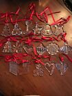 Lot of 17 Orrefors Crystal Christmas Ornaments 1989 2005 Excellent Condition