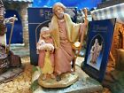 FONTANINI PAPA  MISHAM 2007 5 NATIVITY VILLAGE FIGURE 54019 SIGNED HEIRLOOM