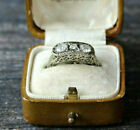 Vintage Art Deco Engagement Antique Ring 14K White Gold Over 233 Ct Diamond