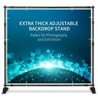 Professional 8x10 Large Tube Heavy Duty Telescopic Step Backdrop Banner Stand