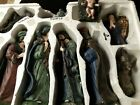 Large Newbury Collections Nativity Scene Porcelain Ceramic Characters Jesus