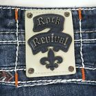 Rock Revival Cut Off Jean Shorts Rollins Blue Mens 38