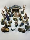 25 piece Thomas Kinkade Hawthorne Village Nativity Baby Jesus Mary Joseph manger