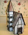 Forma Vitrum Stained Glass Bavarian Church with Pewter Bride  Groom