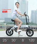 Electric Folding Bicycle Moped White E bike 36V 8AH Lithium Battery for Adult