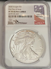 2020 S 1 Silver Eagle NGC PF70 Ultra Cameo FDOI signed by John M Mercanti