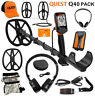 QUEST Q40 PACK METAL DETECTOR With 2 Search Coils, Wireless Headphones & MORE !