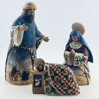 HEARTWOOD CREEK JIM SHORE HOLY FAMILY NATIVITY 3 PIECE SET JOY TO THE WORLD 2003
