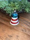 vintage mercury glass bell ornament Red White And Blue Vtg Patriotic