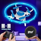 Mini Drone for Kids with LED Lights Crash Proof One Key Take Off Landing Spin