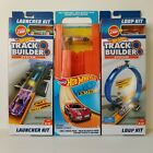 Lot 3 Hot Wheels Track Builder Loop Kit Track Pack Launcher Kit With Cars Mattel