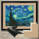 40Wx32H THE STARRY NIGHT by VINCENT VAN GOGH DOUBLE MATTE GLASS and FRAME