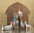 THE HOLY FAMILY FIGURE SCULPTURE HAND PAINTING WILLOW TREE BY SUSAN LORDI 75