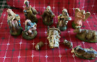 Vtg Crche Presepio Krippenfiguren Nativity Painted Figurines Italy 11 pieces