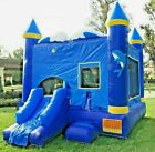 Commercial Inflatable Bounce House Marble Dolphin Combo w 15HP Blower 100 PVC