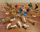 Vintage Hard Plastic Set of Twenty 20 Nativity Figures Made In Italy