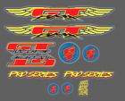 GT Pro Series Chrome Outline Decals Stickers Frame Fork Mid Old School BMX 95