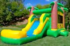 Commercial Inflatable Combo Bounce House Tropical Slide 100 PVC Vinyl Pool