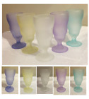 VINTAGE Frosted Pastel Colored Glass 175 Cup Dessert Parfait Sundae Dish Cups