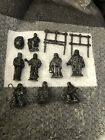1980 Vintage 11 Piece HEAVY CAST PEWTER NATIVITY SET