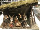 New Small Christmas Nativity Set Scene with Shed