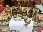 Vintage Nativity Figures Paper Mache Made In Japan Stunning Large Figures