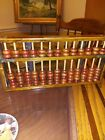 Vintage Wood Abacus personalized 1990 Wood Rods  Beads Excellent Condition