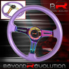 For Nissan Infiniti Heavy Duty Metal Steering Wheel Purple Neo Chrome Godsnow