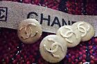 100 CHANEL Buttons 4 pieces size 26 mm 1 inch Logo CC Metal gold XL