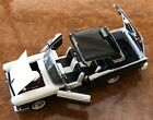 Franklin Mint  124  1957 Ford Fairlane Skyliner 500  2 Tone Black  White
