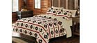 7 pc set Native Beige Southwestern Aztec King Size Comforter Sheets Pillowcases