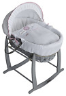 Clair de Lune Wicker Moses Basket Pink Grey Over The Moon