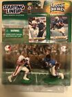 EDDIE GEORGE & EARL CAMPBELL OILERS STARTING LINEUP CLASSIC DOUBLES 1999 - 2000
