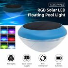 RGB Solar LED Floating Pool Light Solar Powered Colorful Swimming Underwater