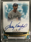2011 Topps Tier One Sandy Koufax On Card Auto Blue Ink! HOF! Autograph! Dodgers!