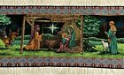 NATIVITY table runner 72 x 13 tapestry weave First Christmas MWW