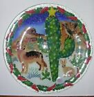 2002 Retired PEGGY CARR Fused Glass CHRISTMAS Cactus Southwest 11 Plate